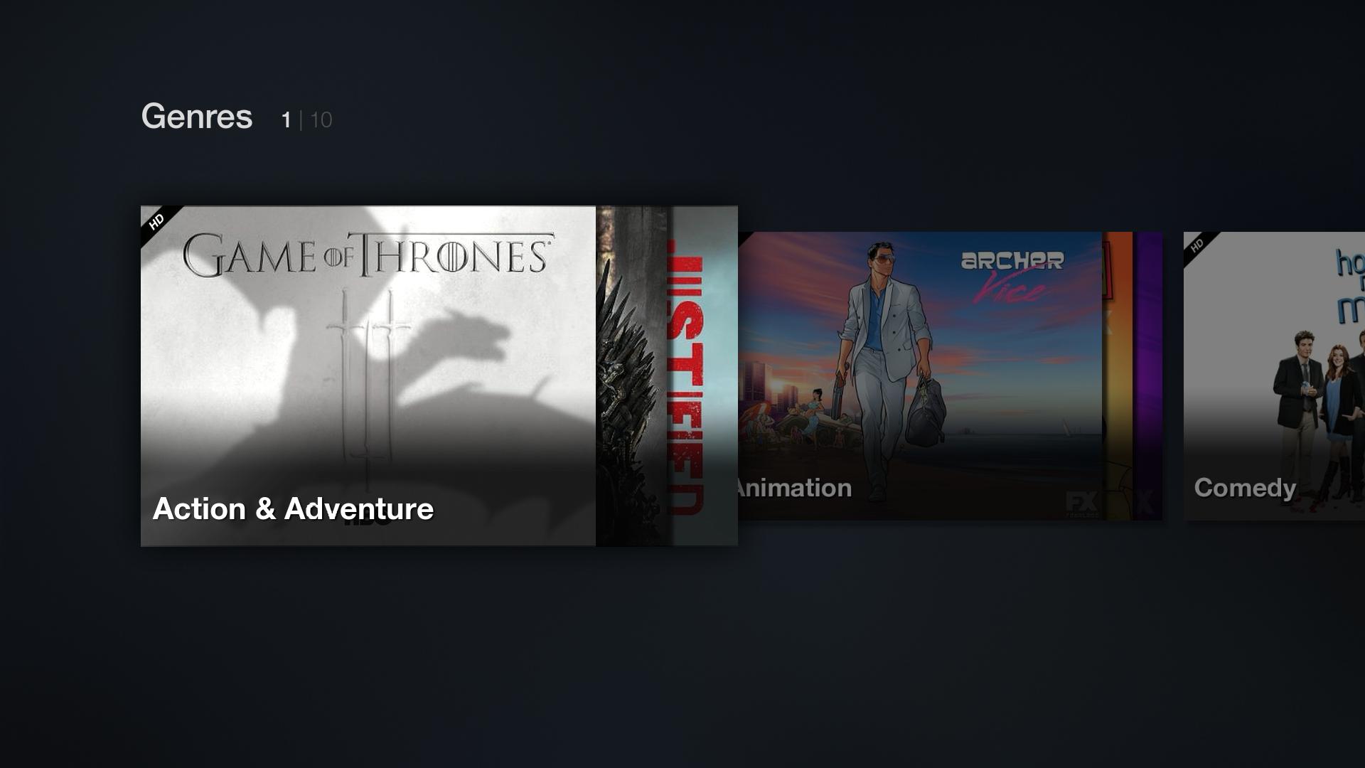 fire tv genres