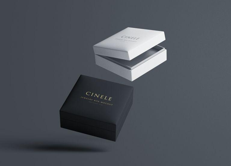 Download Luxury Rigid Boxes Box Mockup Jewelry Box Mockup