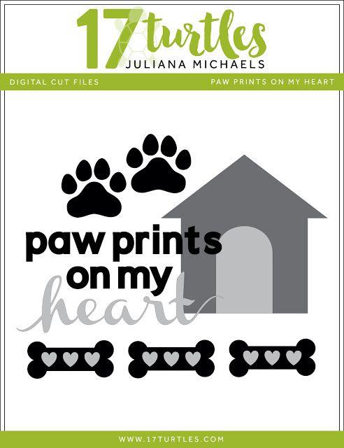 Paw Prints Free Digital Cut File by Juliana Michaels 17turtles.com