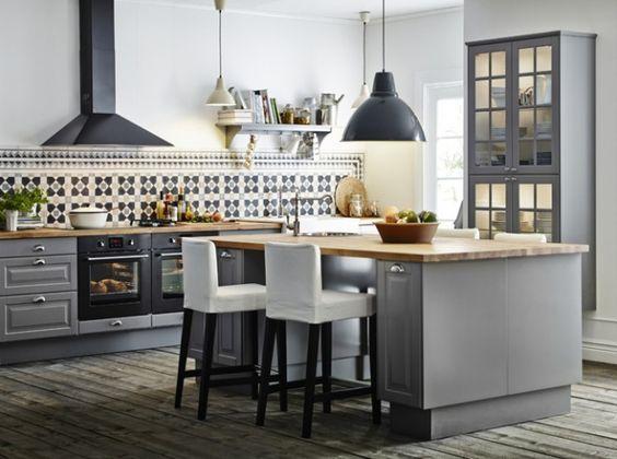 Grey (avec ilot central).   Home Ideas   Pinterest   Kitchens