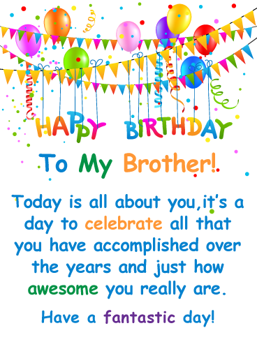 You Re Awesome Happy Birthday Card For Brother Birthday Greeting Cards By Davia Birthday Cards For Brother Happy Birthday Brother Birthday Wishes For Brother