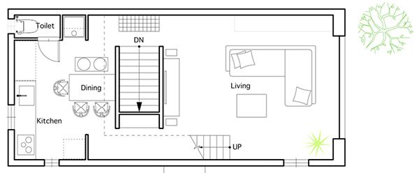 Japanese House Floor Plans First Floor Plan Compact Minimalism