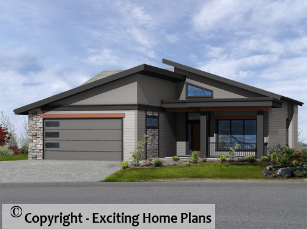 Modern House Garage Dream Cottage Blueprints By Exciting Home Plans Modern House Plans Open Floor House Plans Bungalow House Plans