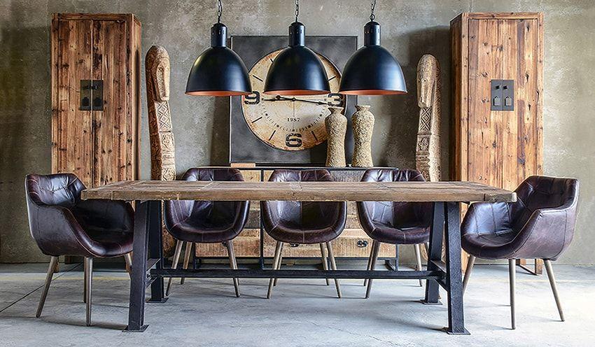 silla comedor piel Vical | Muebles Vical Home | Muebles industriales ...