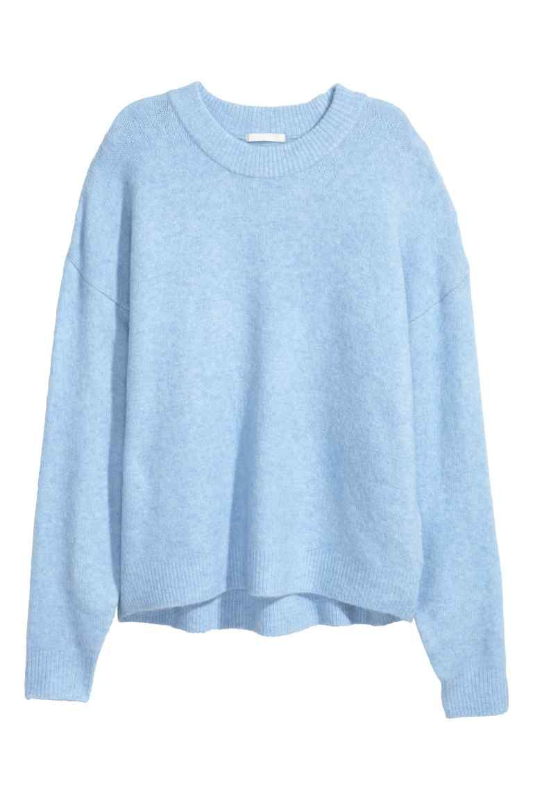 Jersey de punto fino - Azul claro jaspeado - MUJER  3788fa7ead1a