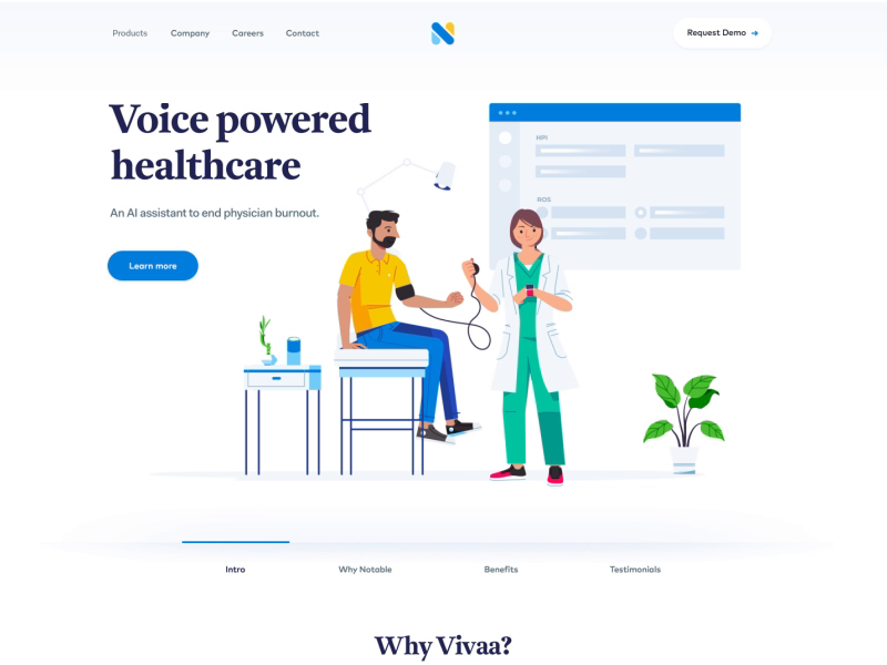 Health care products website