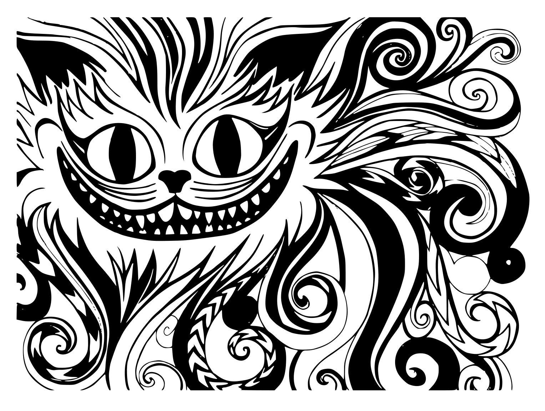 Картинки чеширский кот эскиз