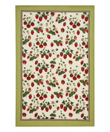 This Royal Horticultural Society Strawberry Linen Tea Towel is perfect! #zulilyfinds