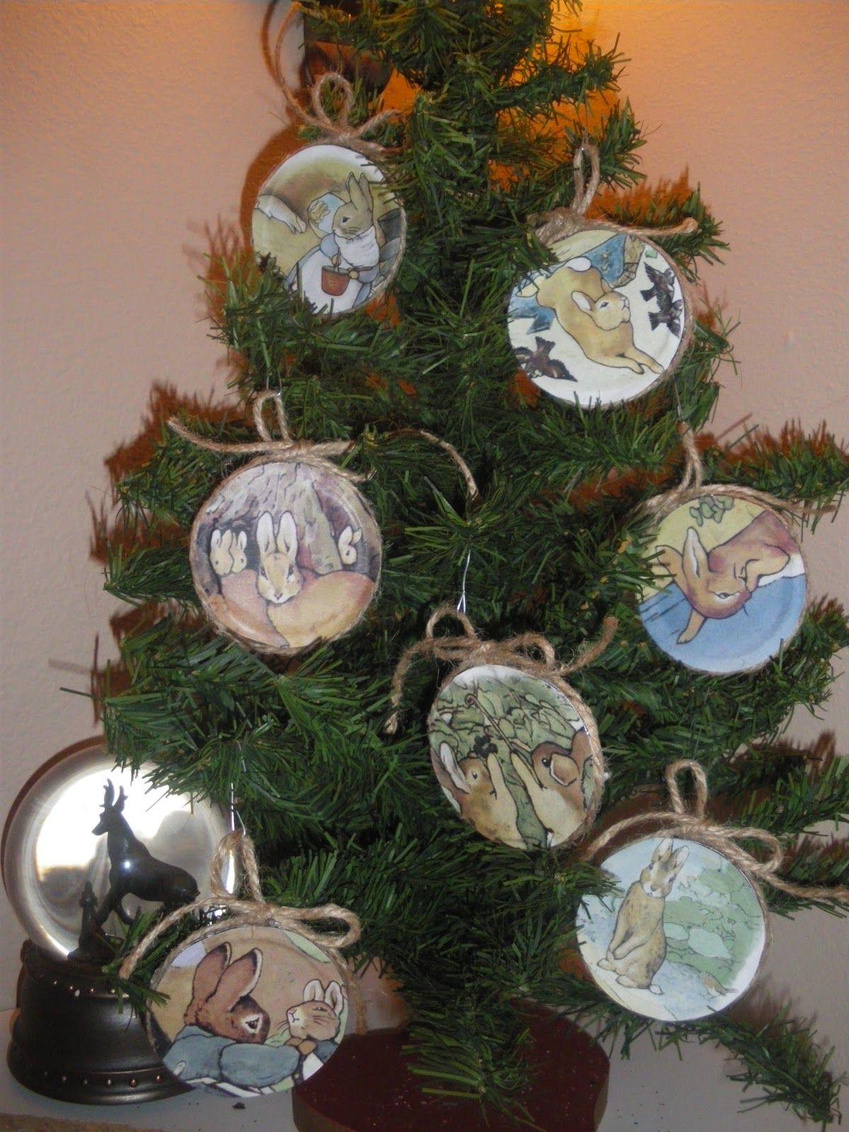 Reduce, Reuse, Renewed Beatrix Potter Juice Lid Ornaments