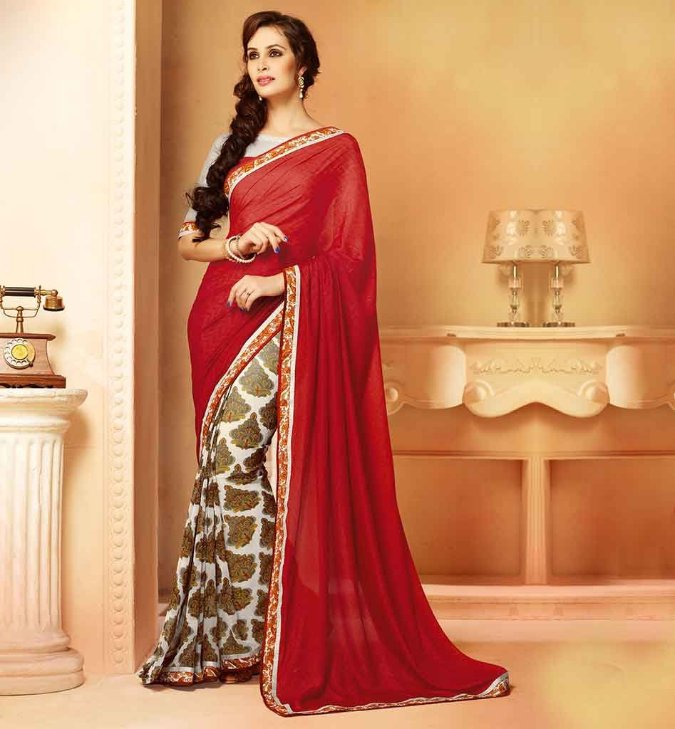Modern dress casual -  Stylish Saree Blouse Designs For Modern Indian Lady New Look Casual Wear Sari