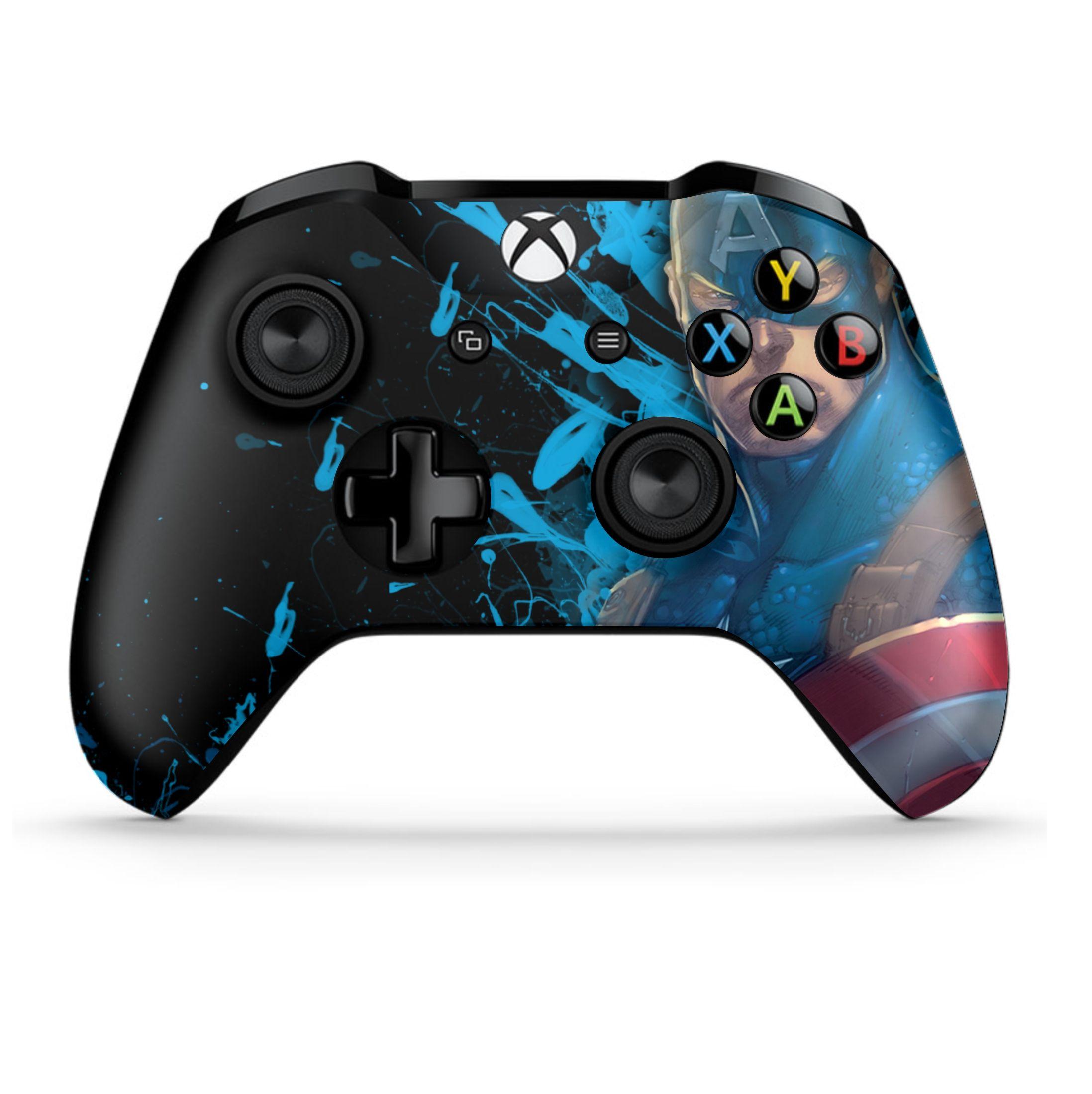 Captain America In 2020 Custom Xbox One Controller Custom Xbox Xbox Controller