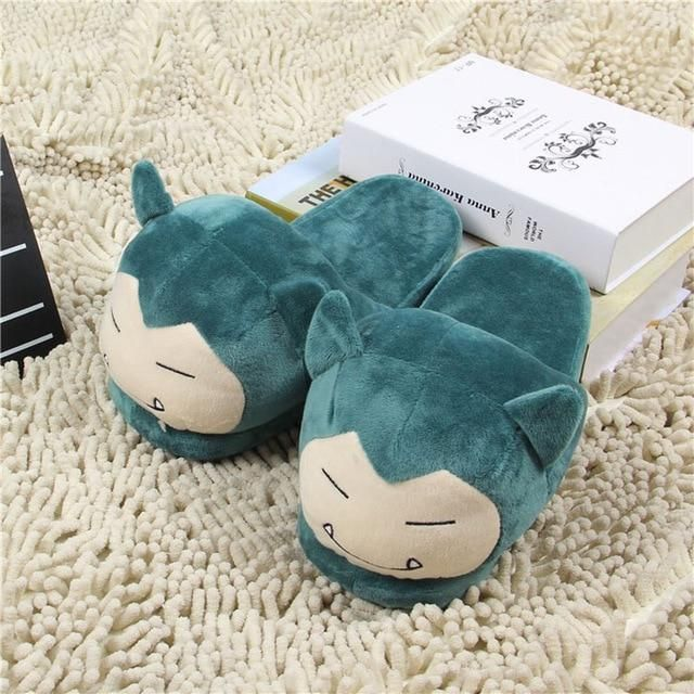 Photo of Cozy Snorlax House Slippers