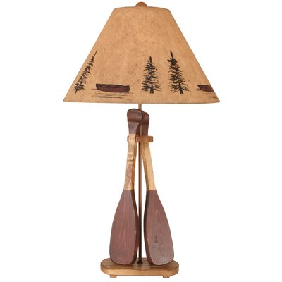 Union Rustic Cannonleague Wooden 2 Paddle 31 Table Lamp Lamp Table Lamp Rustic Lamps