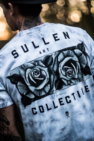Sullen Men/'s Heavy Short Sleeve T Shirt Black Clothing Apparel Tattooed Weed ...
