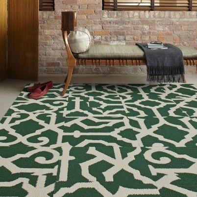Lasting Grateness Emerald Bone Carpet Tiles Contemporary Area