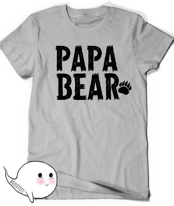 97fb5bd55 Papa Bear T-Shirt First Fathers Day Gift Ideas T Shirt Tee Present New  Daddy Baby Shower Grandfather