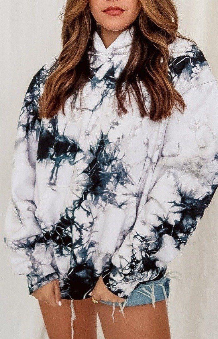 Marble Tie Dye Oversized Sweatshirt In 2021 Tie Dye Fashion Tie Dye Outfits Tie Dye Sweater [ 1182 x 761 Pixel ]