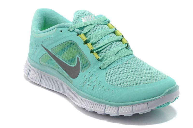 Nike Free Run 3 Womens Size Tropical Twist Reflect Silver Pure Platinum  Neon Green