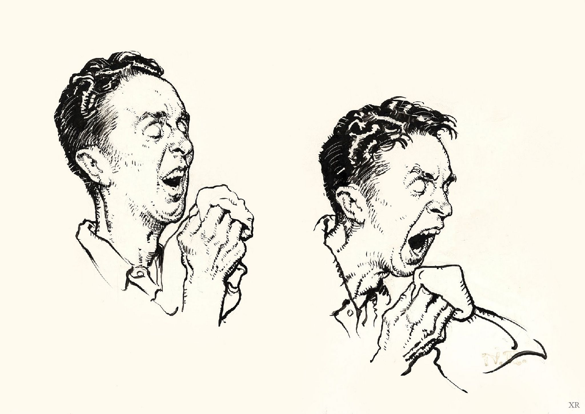 1945     'The Sneeze' - Norman Rockwell | Norman Rockwell