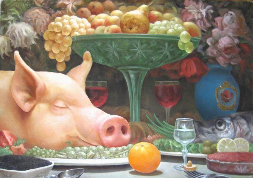картинка свинья в апельсинах двухкомнатная