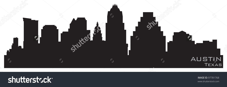 Austin, Texas skyline. Detailed vector silhouette | Motion Graphics ...