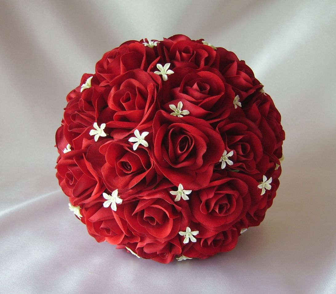 Bouquet wedding pinterest bride bouquets simple weddings and red rose and jasmine flower bouquet izmirmasajfo Image collections
