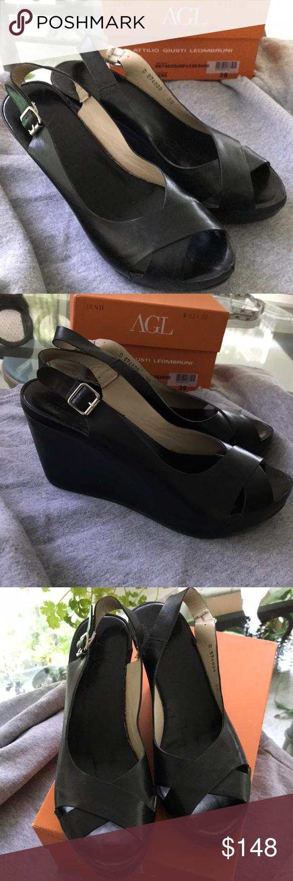 AGL Cap Toe Ballet Flats Lattice Weave Sz 36.5/6.5