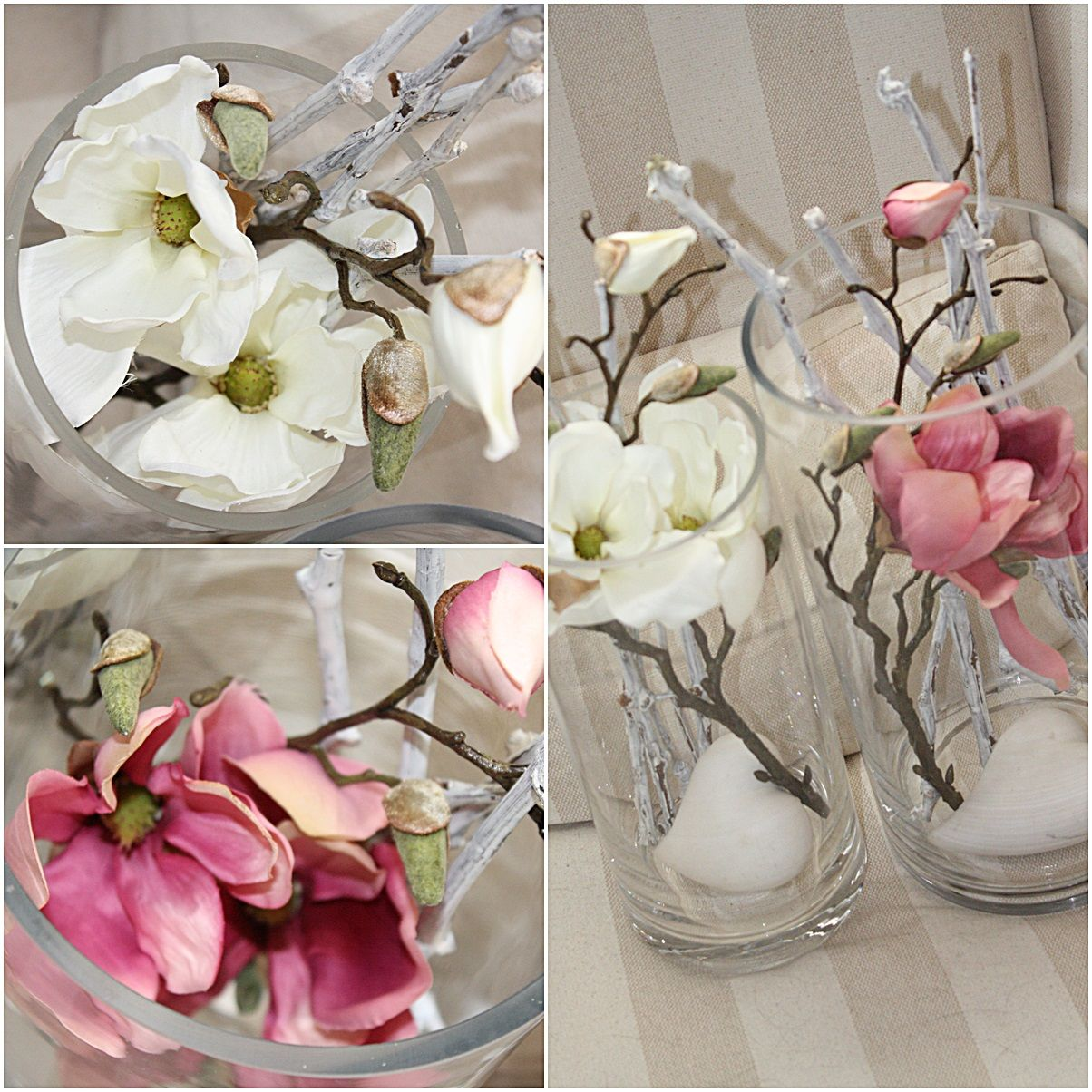 Magnolien rosa fr hlings deko deko pinterest for Rosa dekoration