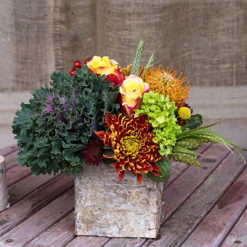 Small Fall Box By Lavender Unique Flower Arrangements Fresh Flowers Online Flower Arrangement Designs