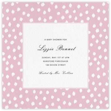 Ikat Dot (Square) - Pink - Paperless Post