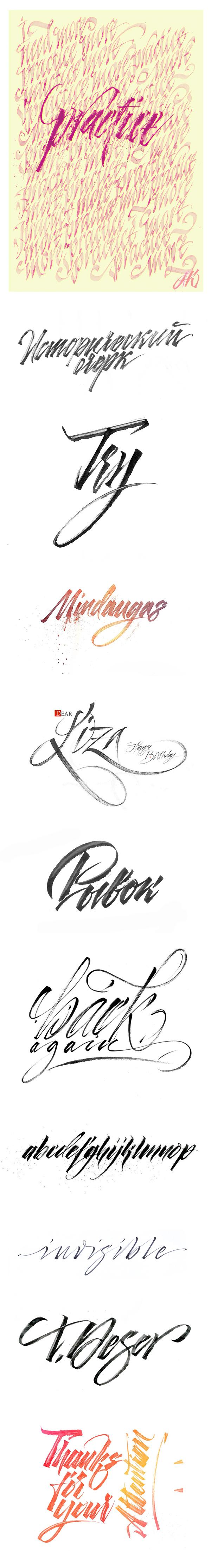 Calligrapgy 2012 by Alexander Kontarev, via Behance