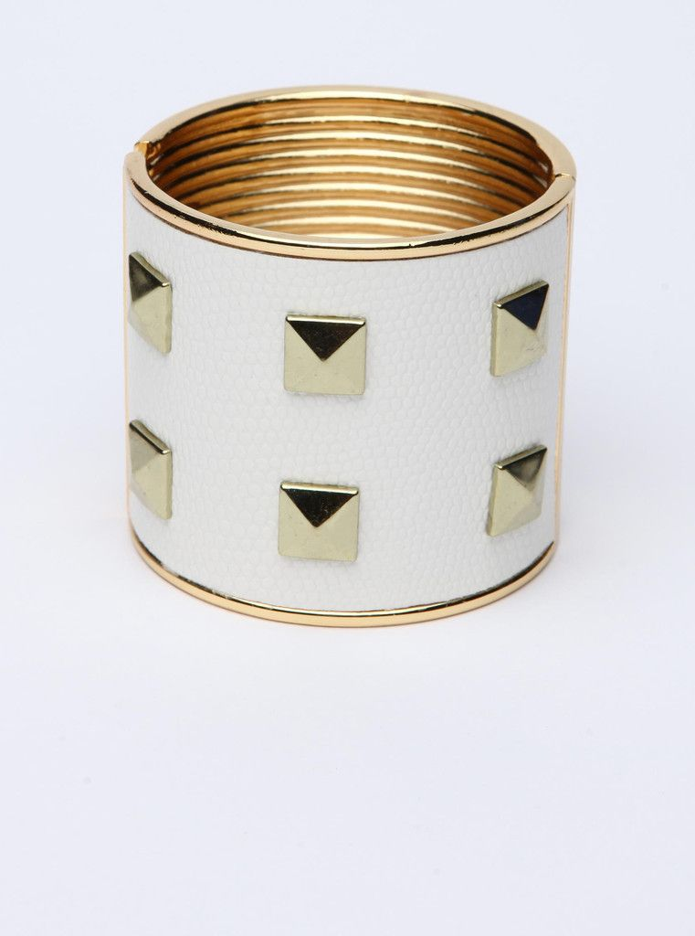 Shackled White and Gold Cuff in Accessories at Living Royal – Living Royal - One of a kind looks at unbeatable prices