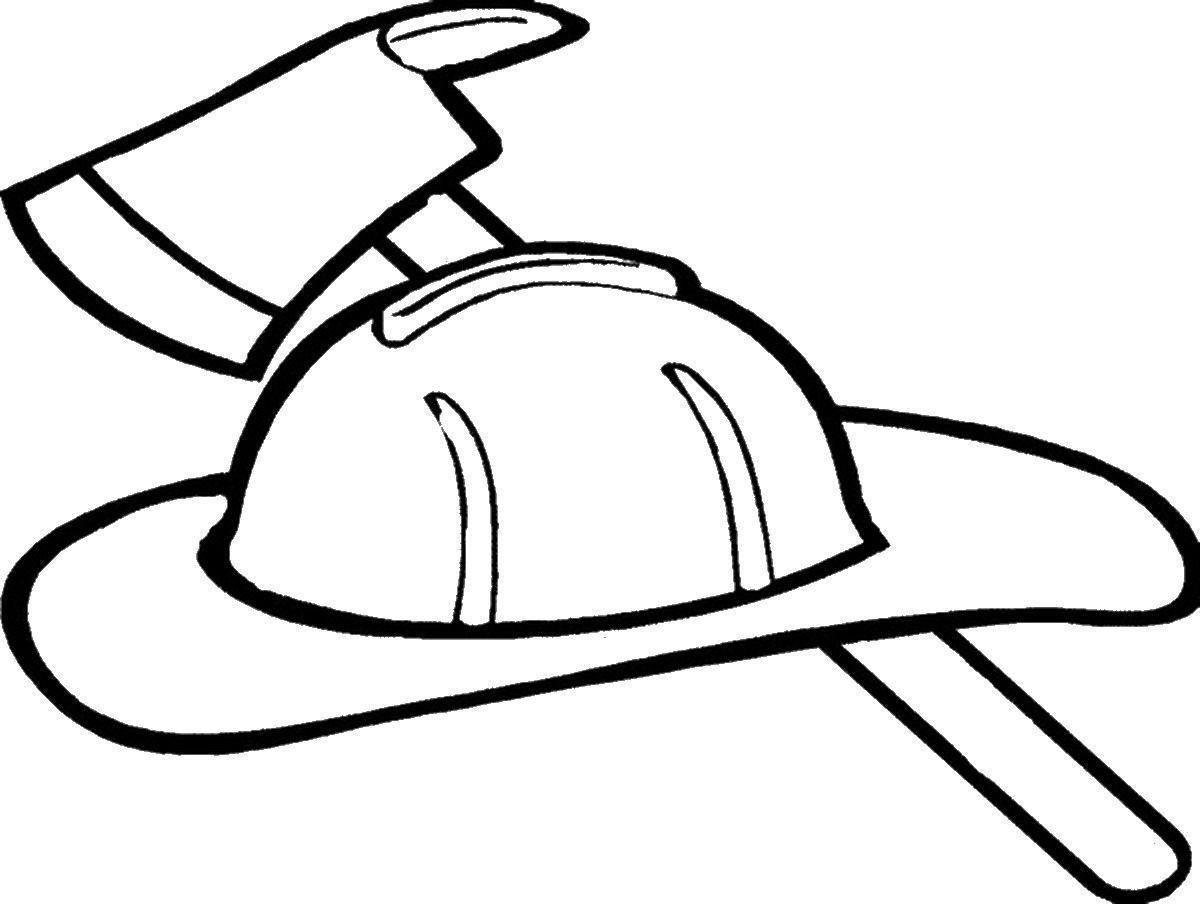 Fireman Hat Coloring Page Coloring Home Fireman Helmet Fireman Quilt Fireman Hat