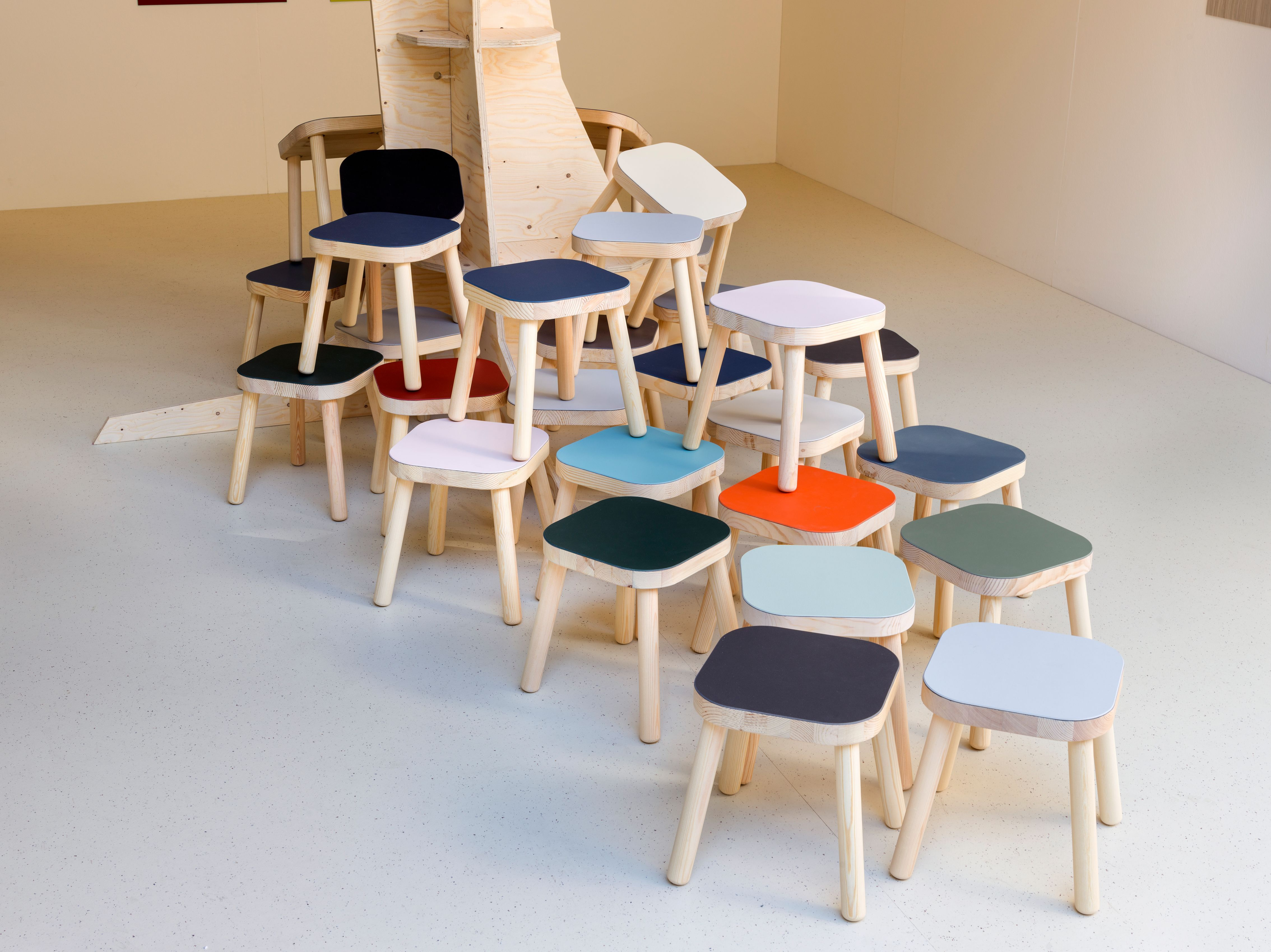 Salone del Mobile 2017 Stools with Forbo furniture