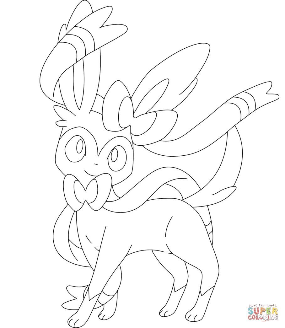 Sylveon Coloring Pages Pokemon Coloring Pages Pokemon Coloring