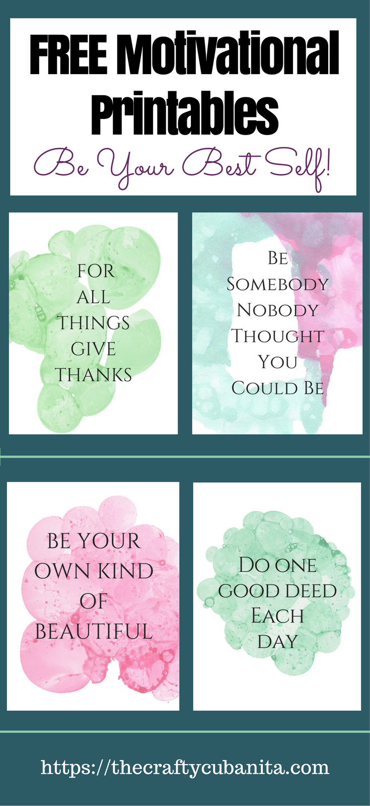 Free Printable Wall Art Decor Helps You Be Your Best Self