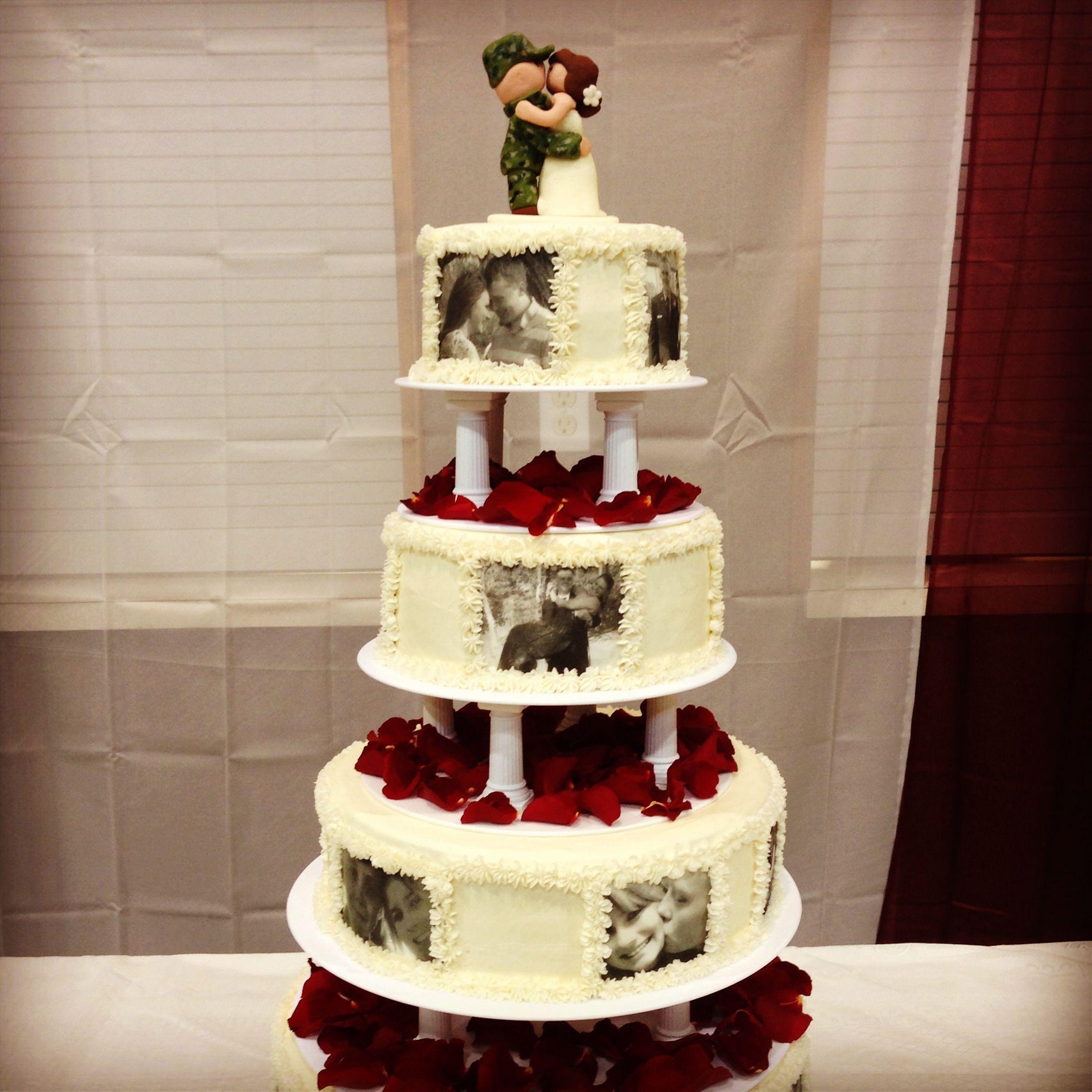 Army Wedding Cakes Military Tiered Cake Round Wedding