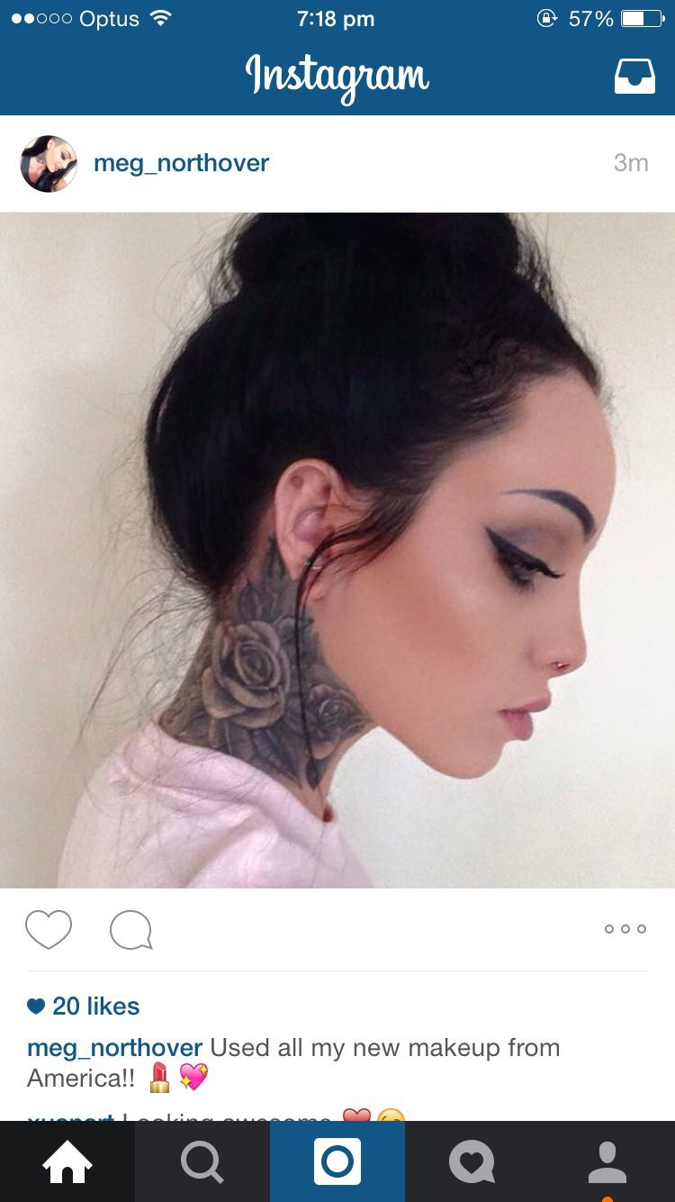 Rose Tattoo Neck Neck Tattoos Women Side Neck Tattoo Girl Neck Tattoos