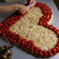 Photo of Erdbeertorte in Herzform – Apfel Kuchen – Ostern – Ostern –  Erdbeertorte in…