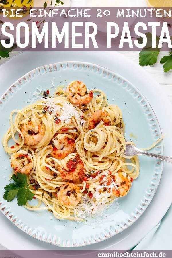 Photo of Schnelle Garnelen Pasta – in 20 Minuten auf den Tisch – emmikochteinfach