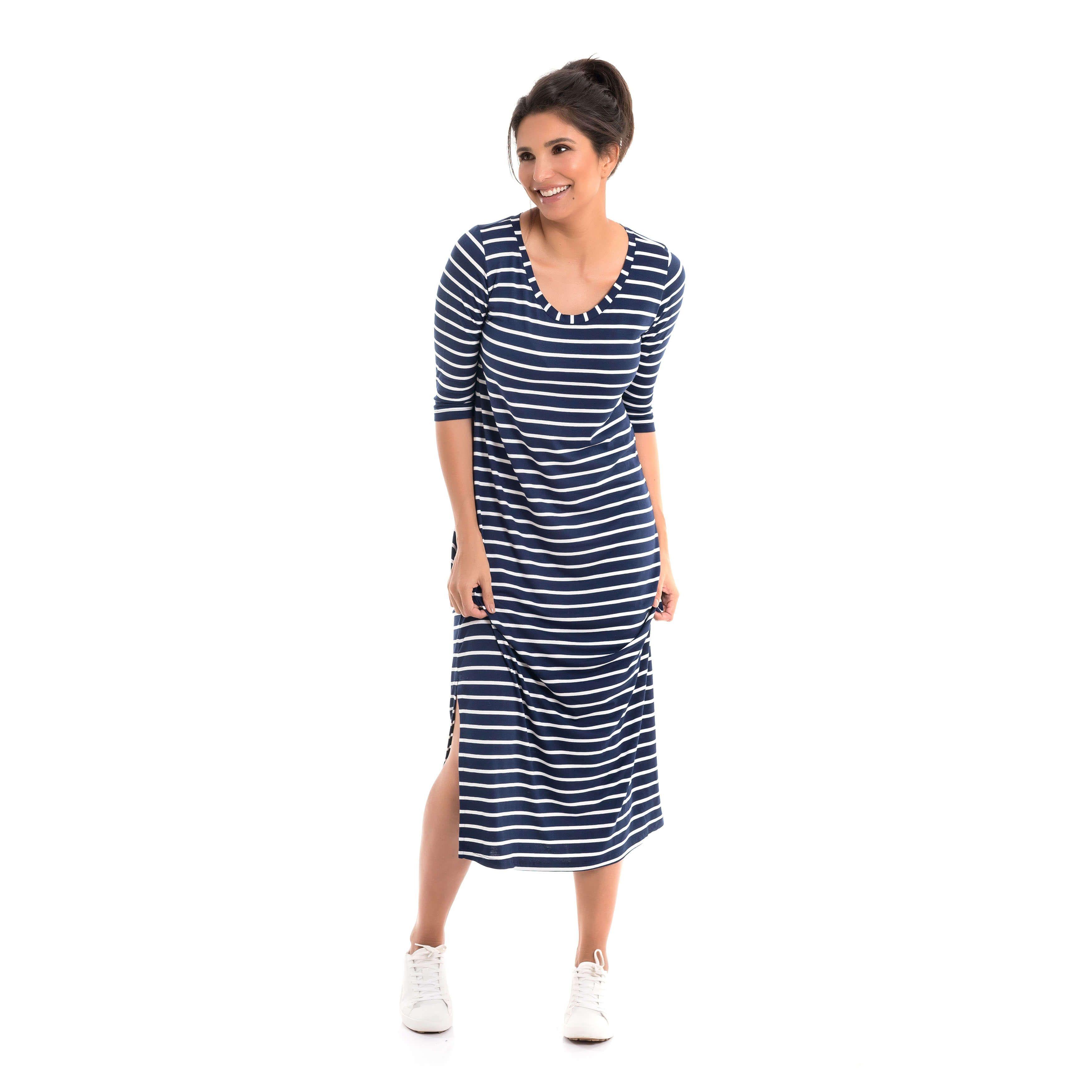 9d1c66247d Vestido Gestante Eloana é aquele vestido básico no comprimento midi que  você não vai querer tirar do corpo!