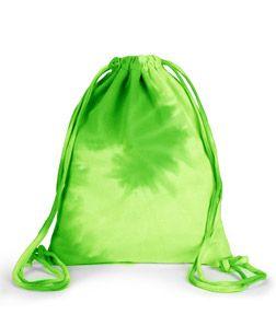 Lime Tye Dye Bag with Drawstrings