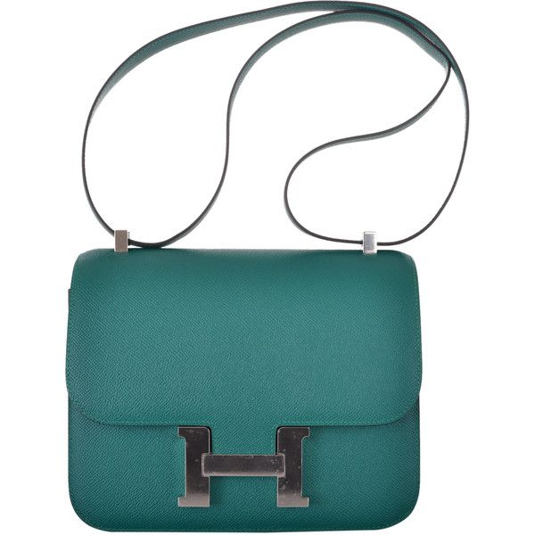 d2352daeffcd ... new zealand pre owned hermes constance bag 24cm double gusset malachite  epsom 1.183 2d51e faced