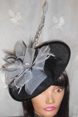 Silver, Black & Ivory Saucer Hat, £59.99