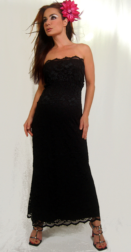 7756ebd147765 Long black lace maternity cocktail evening gown dresses by designer Nicole  Michelle Maternity. These formal long black maternity cocktail dresses are  cute, ...