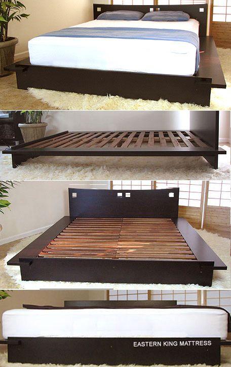 Platform Beds Solid Wood Bed Frame Wood Bed Frame Low Platform Bed