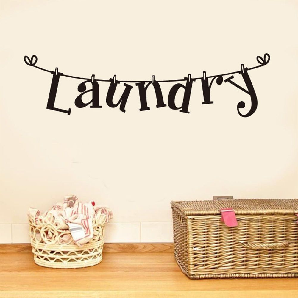 Laundry Room Quotes For Walls New Diy Laundry Room Quote Wall Sticker Home Decor Art Mural Removable Decorating Inspiration