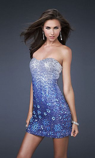 a2a05fcc204 love the fade in colors Sequin Prom Dresses