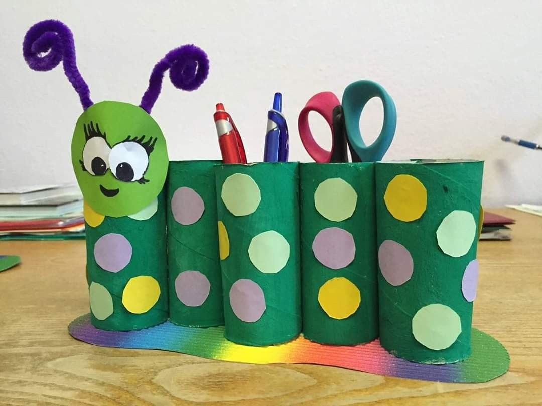 Pin By Zuziamala On Jaro Paper Roll Crafts Crafts For Kids Recycled Crafts