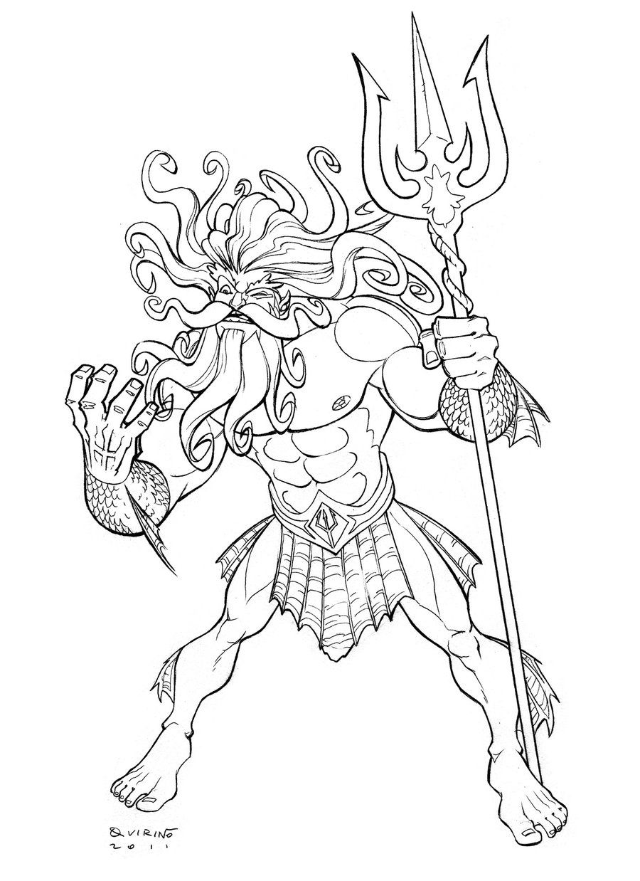 Line Drawing Of Zeus : Poseidon by decalnero surf pinterest